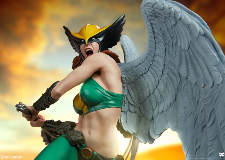 The Hawkgirl Premium Format™ Figure Takes Wing in Your DC Comics Collection
