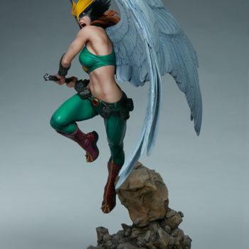 Hawkgirl Premium Format™ Figure Open Lit Turnaround 1