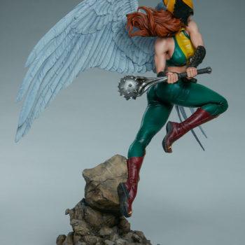 Hawkgirl Premium Format™ Figure Open Lit Turnaround 4