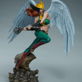 Hawkgirl Premium Format™ Figure Open Lit Turnaround 5