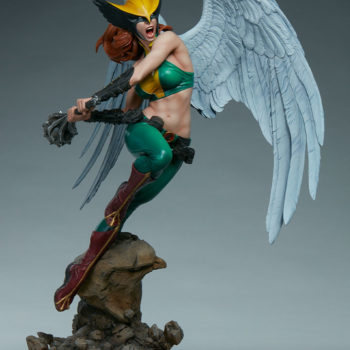 Hawkgirl Premium Format™ Figure Open Lit Turnaround 6