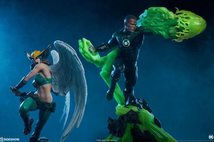Hawkgirl Premium Format™ Figure with John Stewart Premium Format™ Figure