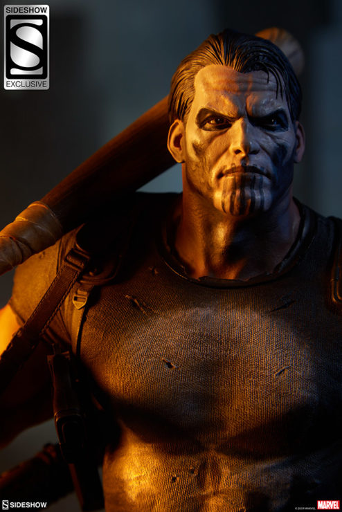 Check Out the Official Production PhotoSHOOT of The Punisher Premium Format™ Figure!