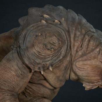 Rancor Deluxe Statue Side View with Shoulder 2