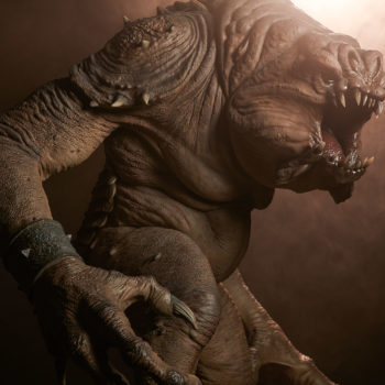 Rancor Deluxe Statue with Dramatic Lighting