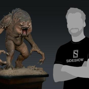 Rancor Deluxe Statue Scale Shot
