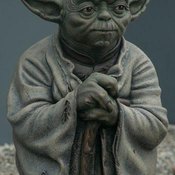 Yoda Bronze Life-Size Figure upper body close up facing forward