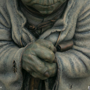 Yoda Bronze Life-Size Figure Close up on hands