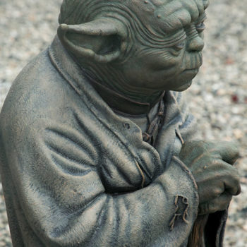 Yoda Bronze Life-Size Figure right side close up