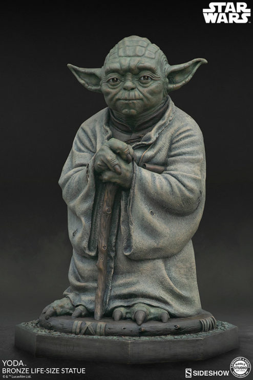 Bring Home the Legacy of Star Wars with the Yoda Bronze Life-Size Figure by Sculptor Lawrence Noble