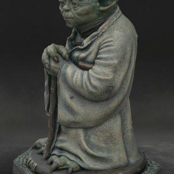 Yoda Bronze Life-Size Figure full figure turned left