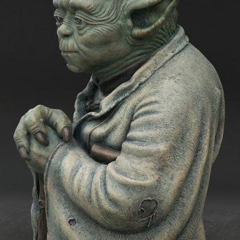 Yoda Bronze Life-Size Figure left side close up