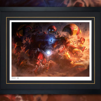 Hulkbuster Fine Art Print by Erwin Papa and Fabian Schlaga Black Framed Edition