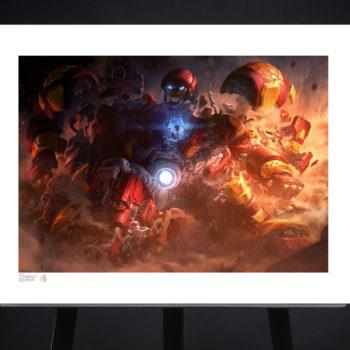 Hulkbuster Fine Art Print by Erwin Papa and Fabian Schlaga Unframed Edition