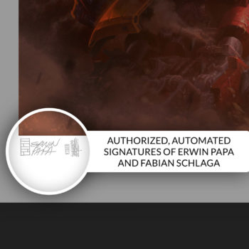 Hulkbuster Fine Art Print by Erwin Papa and Fabian Schlaga Authorized Autopen Signature on Unframed Edition