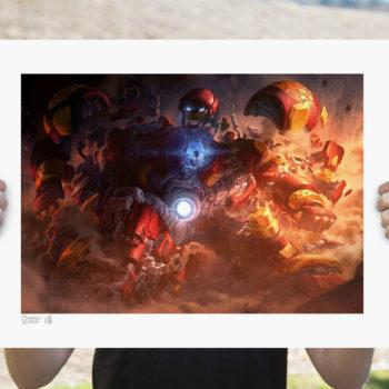 Hulkbuster Fine Art Print by Erwin Papa and Fabian Schlaga Unframed Edition Open Light Shot