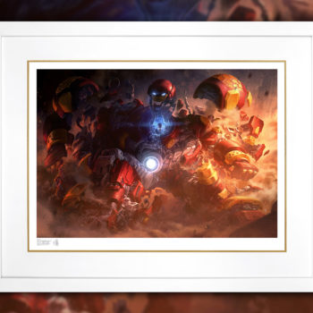 Hulkbuster Fine Art Print by Erwin Papa and Fabian Schlaga White Framed Edition
