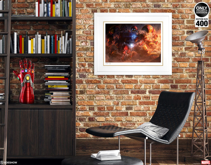 Hulkbuster Fine Art Print by Erwin Papa and Fabian Schlaga White Framed Edition on Environment Wall