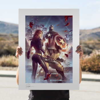 Uncanny X-Men Fine Art Print by Alex Garner Unframed in Open Lighting