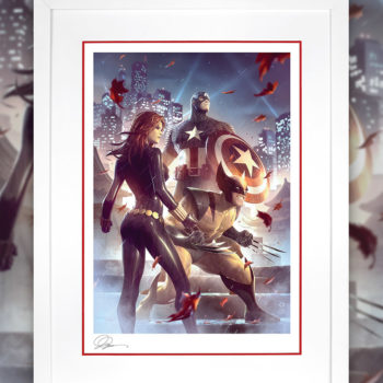 Uncanny X-Men Fine Art Print by Alex Garner White Framed Edition