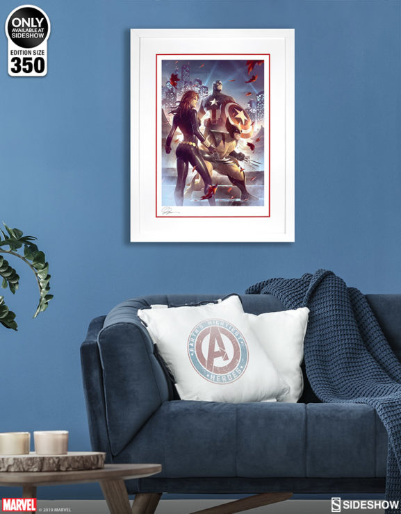 Uncanny X-Men Fine Art Print by Alex Garner White Framed Edition on Environment Wall