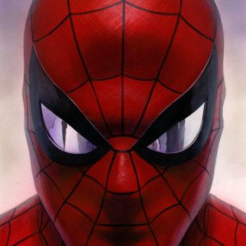Spider-Man: Portraits of Heroism & Green Goblin: Portraits of Villainy Fine Art Lithograph Set by Alex Ross- Spider-Man Portrait