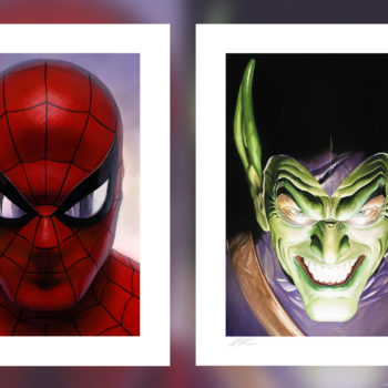 Spider-Man: Portraits of Heroism & Green Goblin: Portraits of Villainy Fine Art Lithograph Set by Alex Ross Unframed Edition