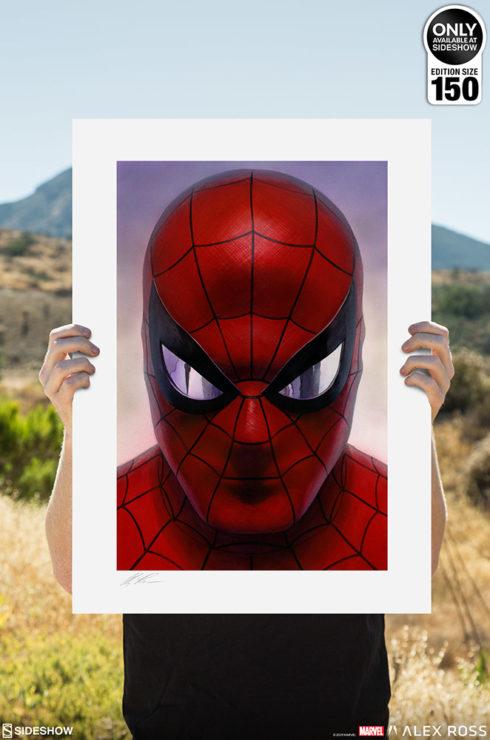 Spider-Man: Portraits of Heroism & Green Goblin: Portraits of Villainy Fine Art Lithograph Set by Alex Ross Unframed Spider-Man Print