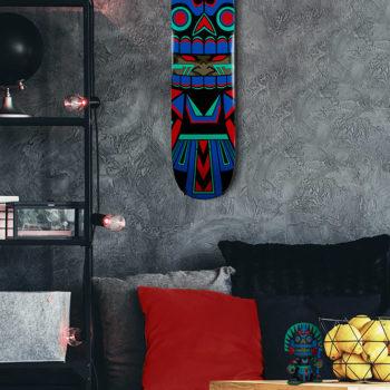 Mictlan Skateboard Deck by artist Jesse Hernandez
