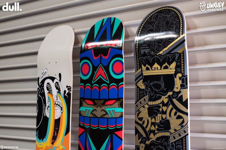 Check Out The Mictlan, King Charles, and I See Colours Skateboard Decks from Unruly Industries™ and Madrid Pro Designs
