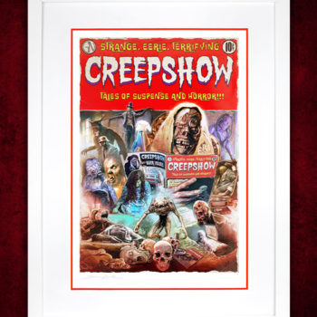 Creepshow Fine Art Print by Brian Rood White Framed Edition