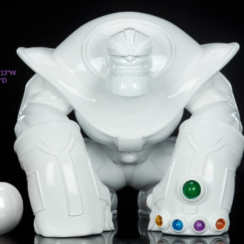 "Thanos: The Mad Titan Infinity-Size White Gloss Edition with Measurements- 12.375"" H x 13.05"" W x 10.673"" D"