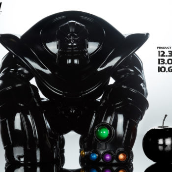 "Thanos: The Mad Titan Infinity-Size Black Gloss Edition with Measurements- 12.375"" H x 13.05"" W x 10.673"" D"