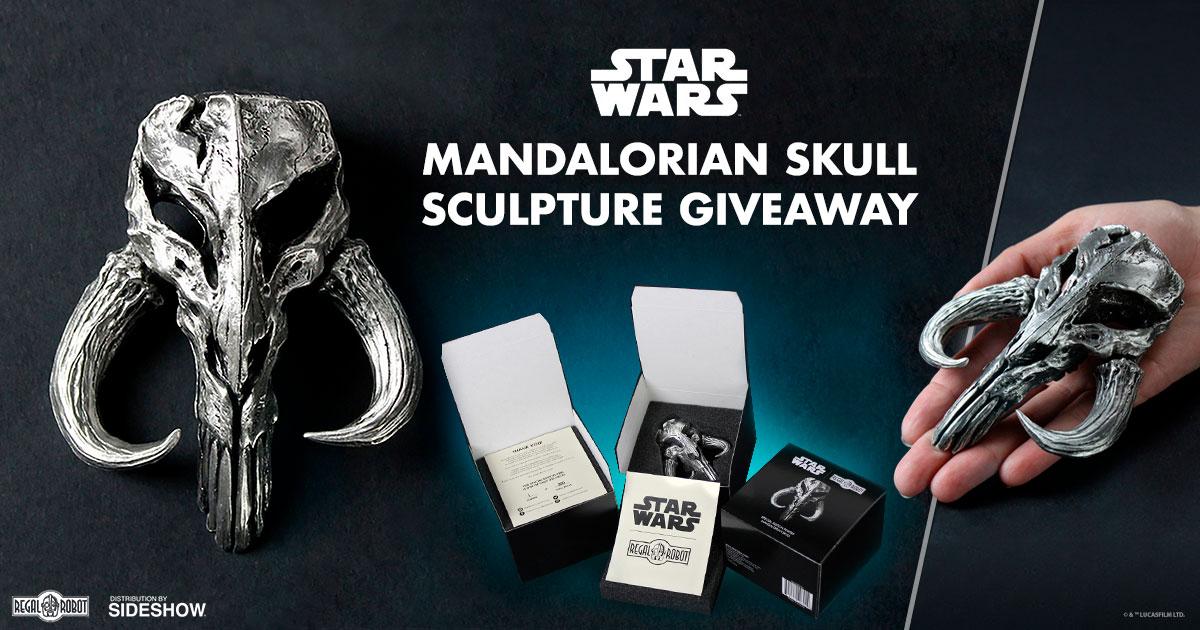 Mandalorian Skull Sculpture Giveaway