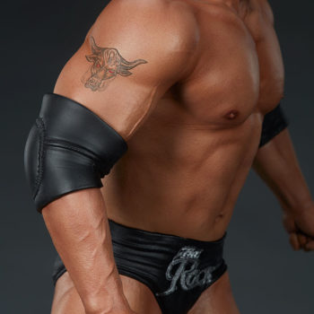 The Rock 1:4 Scale Statue by PCS Collectibles Classic Torso Bull Tattoo Close Up 1