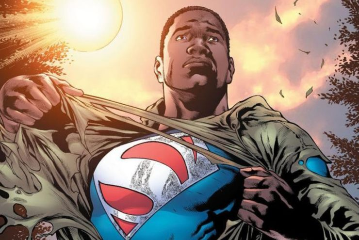 Calvin Ellis Superman from Earth-23, a superhero modeled after Obama and Muhammed Ali