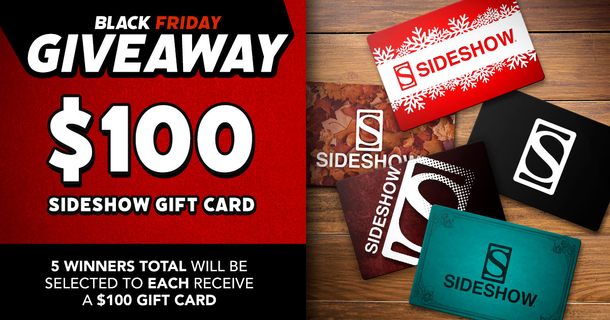 $100 Sideshow Gift Card Giveaway
