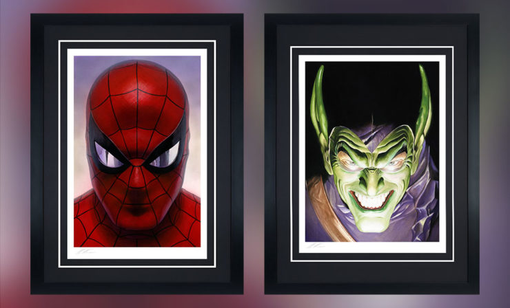 Iconic Foes Face Off in the Spider-Man: Portraits of Heroism and Green Goblin: Portraits of Villainy Fine Art Lithograph Set by Alex Ross