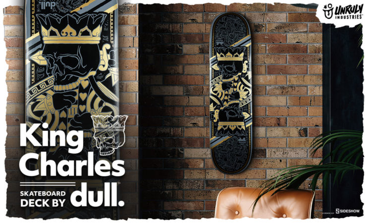 King Charles Skateboard Deck by dull.