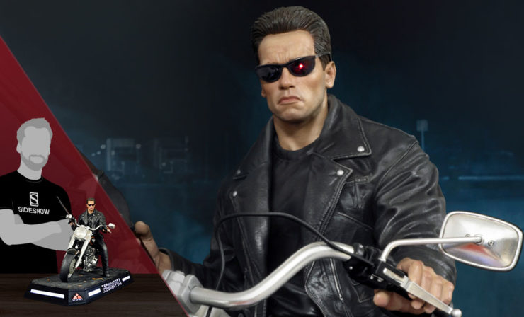 T-800 on a Motorcycle 1:4 Scale Statue by DSC Studio™