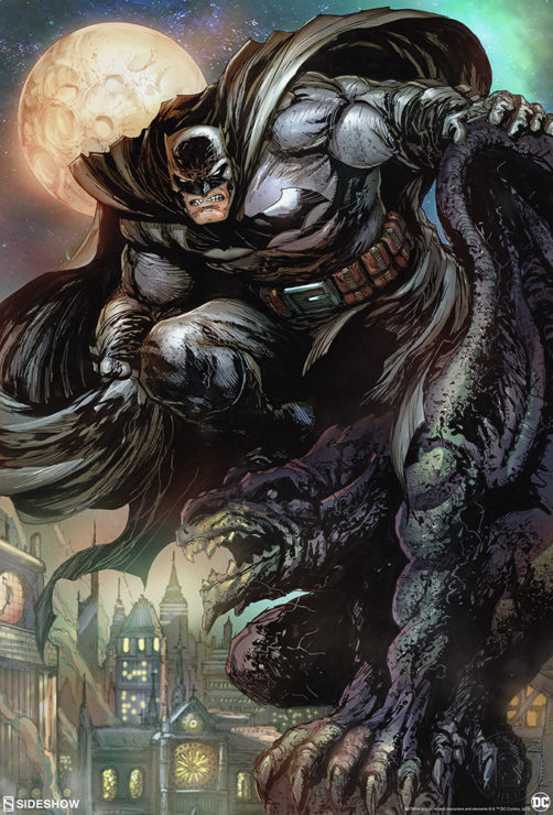 Rise Above The Streets of Gotham with the Batman™: The Dark Knight Fine Art Print by Tyler Kirkham