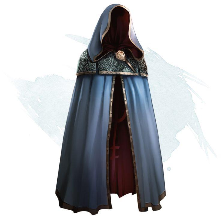 Blue Cloak of Billowing Official Artwork DnD 5e