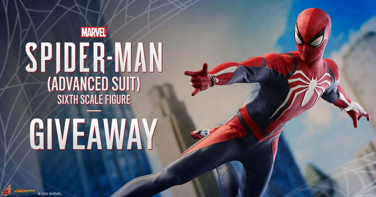 Marvel's Spider-Man Advanced Suit Sixth Scale Figure Newsletter Giveaway