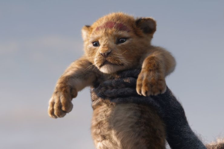 Baby Simba from Disney's The Lion King Remake