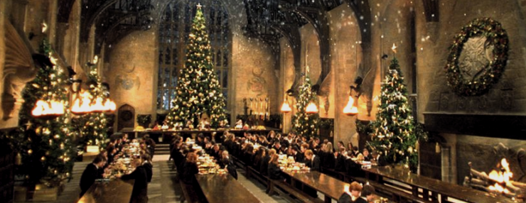 Hogwarts at Christmastime