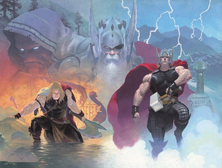 Esad Ribic Thor: God of Thunder Cover Art from 2012