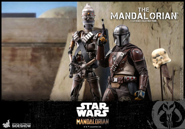 The Mandalorian next to IG-11