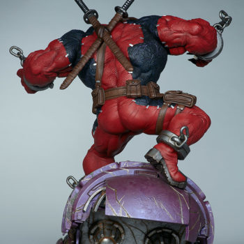 Full back view of Venompool, standing on a sentinel's head