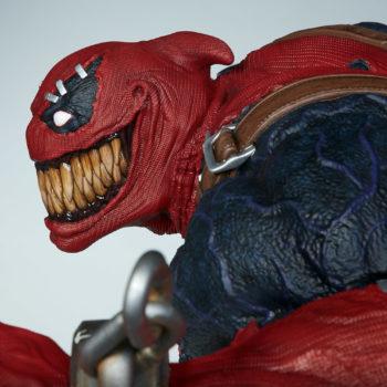 sideview closeup on Venompool's terrifying smile