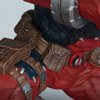 Venompool right view of his utility belt